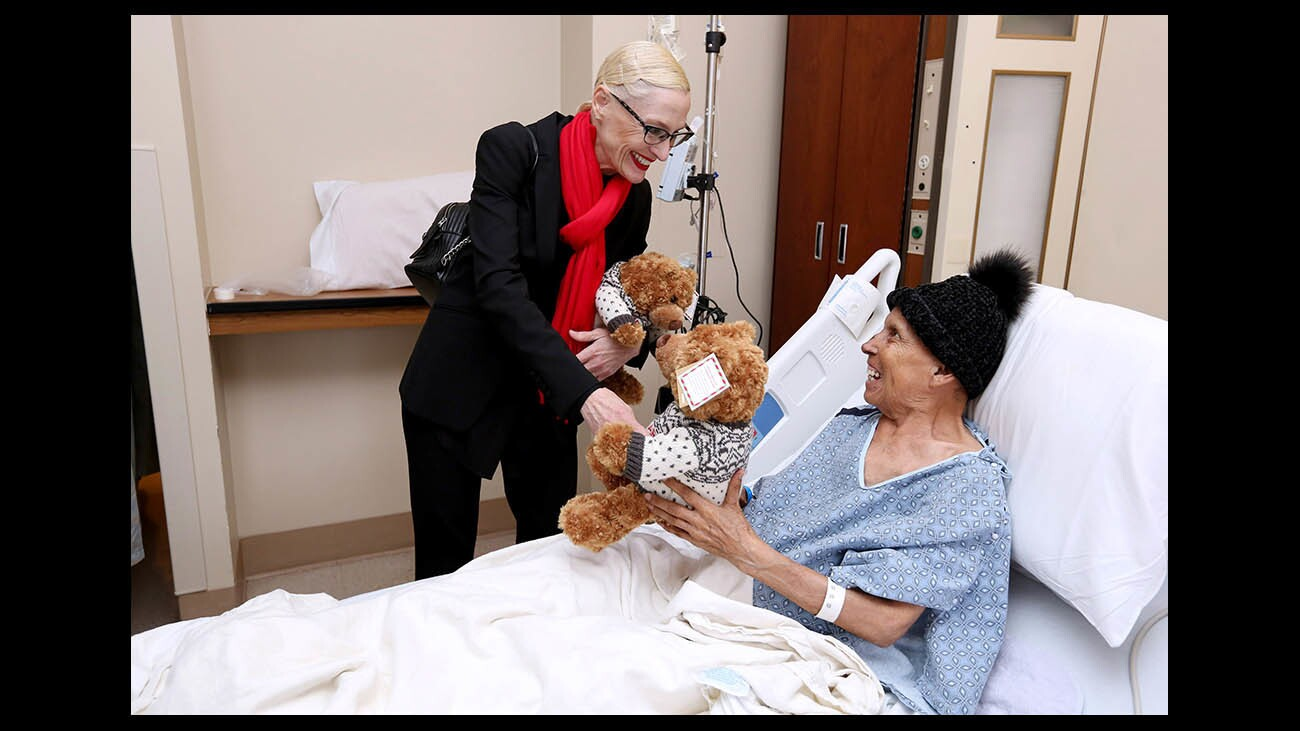 Photo Gallery: Adventist Health Glendale and Bloomingdale's Glendale partner to give stuffed bears to patients