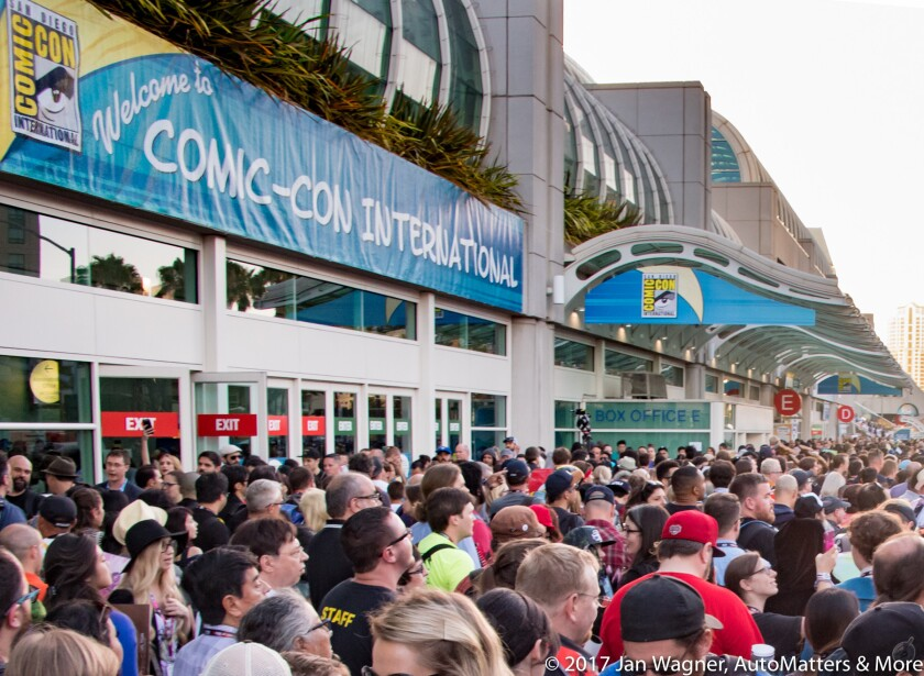 Comic-Con crowds outside the San Diego Convention Center