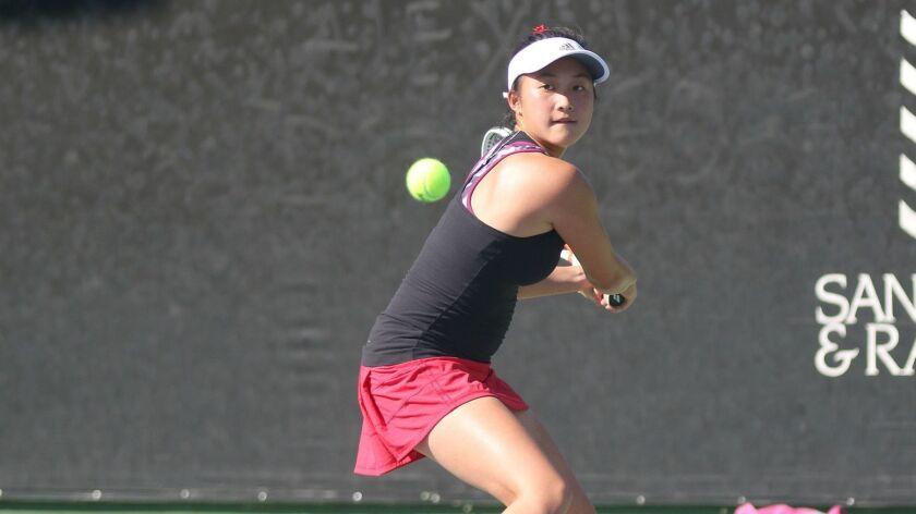 Irene Huang, Canyon Crest high school girls tennis