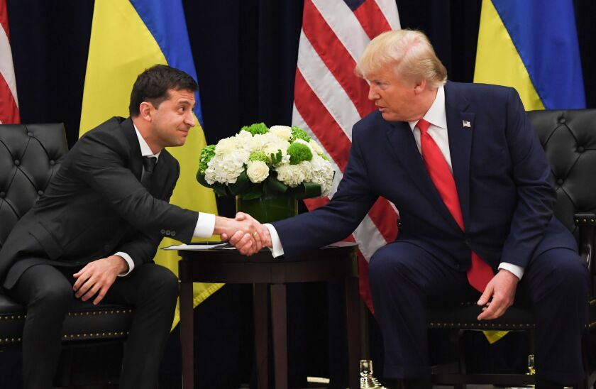 President Zelensky and President Trump