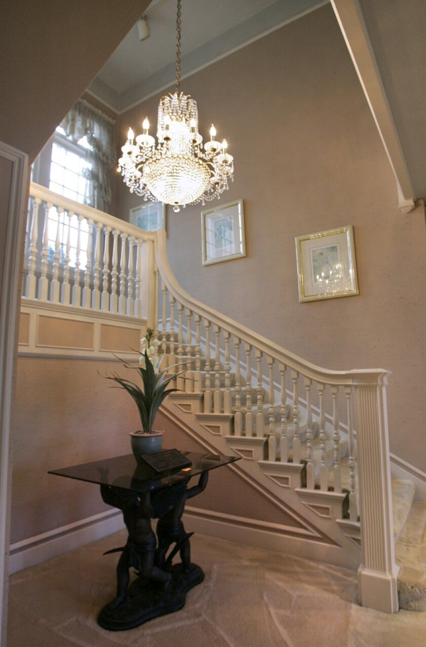 A staircase in the Spreckels mansion is seen in 2006. Current owner Jonah Shacknai bought the historic home in 2007. The home, which is 103 years old, is a state-designated historic landmark.