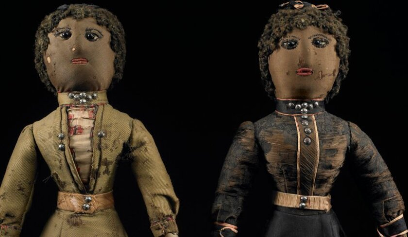 Black dolls from the collection of Deborah Neff.