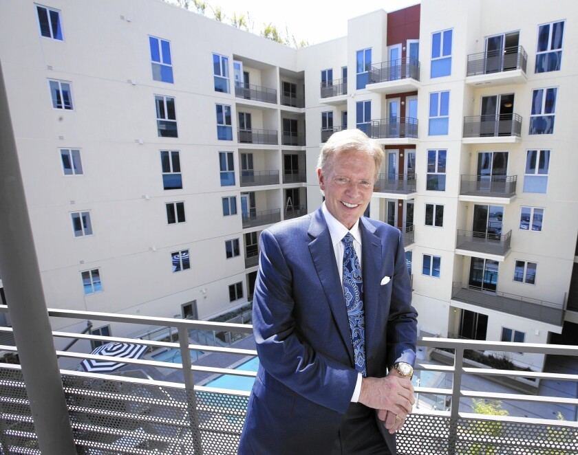 Steve Fifield, shown at K2LA, a new 460-unit apartment complex his firm built in Koreatown, has developed more than 6 million square feet of offices and more than 7,000 residences nationwide.