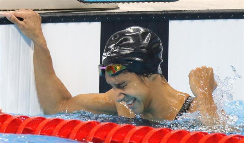 La nadadora olímpica y múltiple medallista en Juegos Centroamericanos y del Caribe Vanessa García, será la abanderada de Puerto Rico en Barranquilla 2018. EFE/ARCHIVO