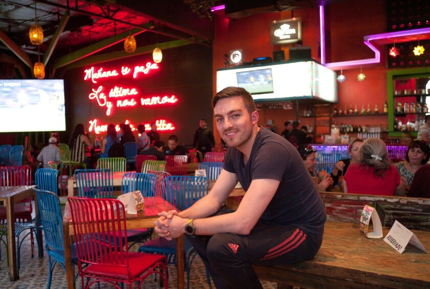 Angel Corral, 29, runs three bars in Ciudad Juarez, where nightlife has begun to return as residents feel safer amid a declining homicide rate. Juarez was until recently the deadliest city in Mexico. This nightclub is called Tres Mentiras (Three Lies).