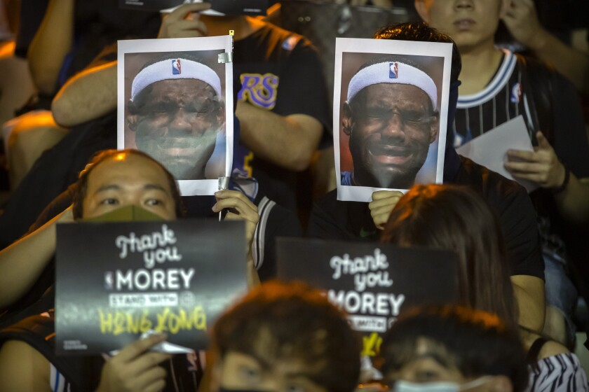 Anti-LeBron James demonstration takes place in Hong Kong following his Morey comments