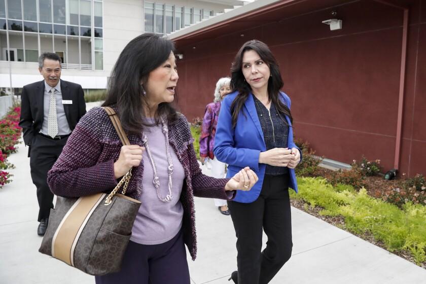 Assemblywoman Blanca Rubio visiting Mt. San Antonio College