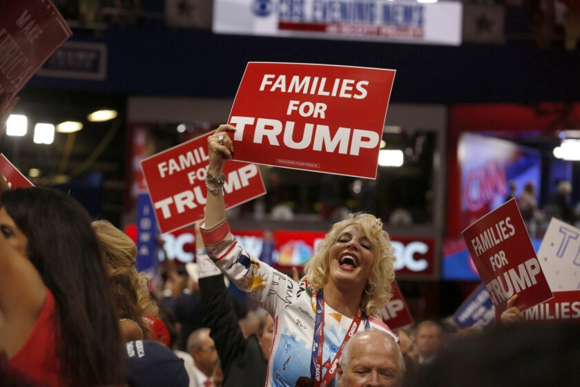 Trump aims at voters he already has, betting they will give him a