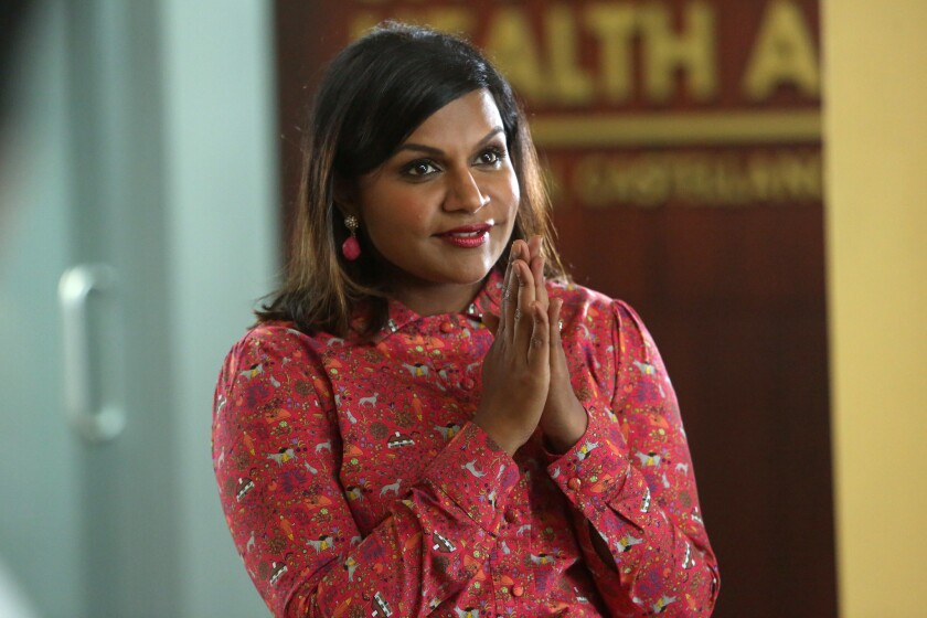 "Mindy Kaling as Mindy Lahiri in an episode of ""The Mindy Project."""