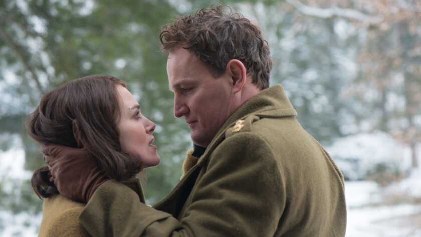 "Keira Knightley and Jason Clarke in the 2019 movie ""The Aftermath"" on HBO."