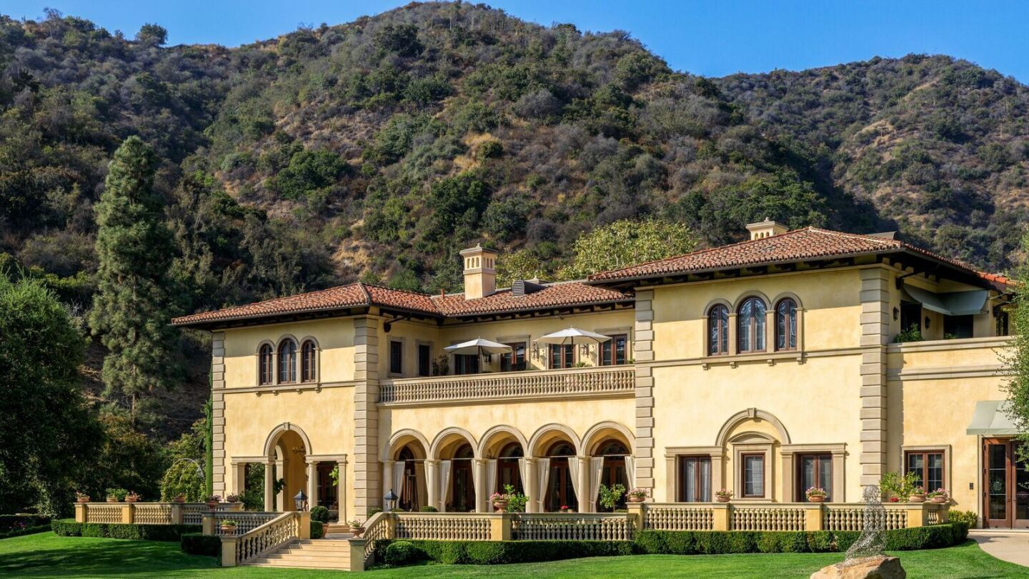 The classic Italian villa in Bel-Air has close to 15,000 square feet of living space.