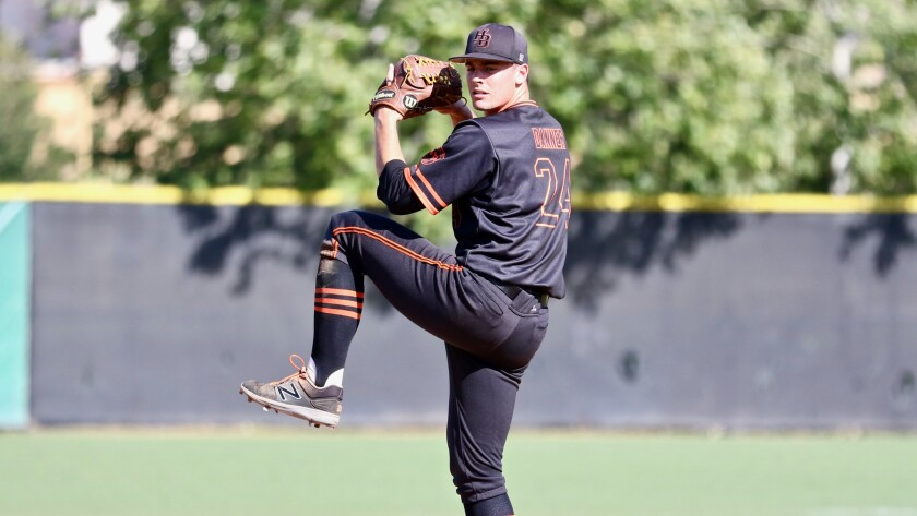 Huntington Beach's Hagen Danner also has a fastball that has been up to 95 mph.