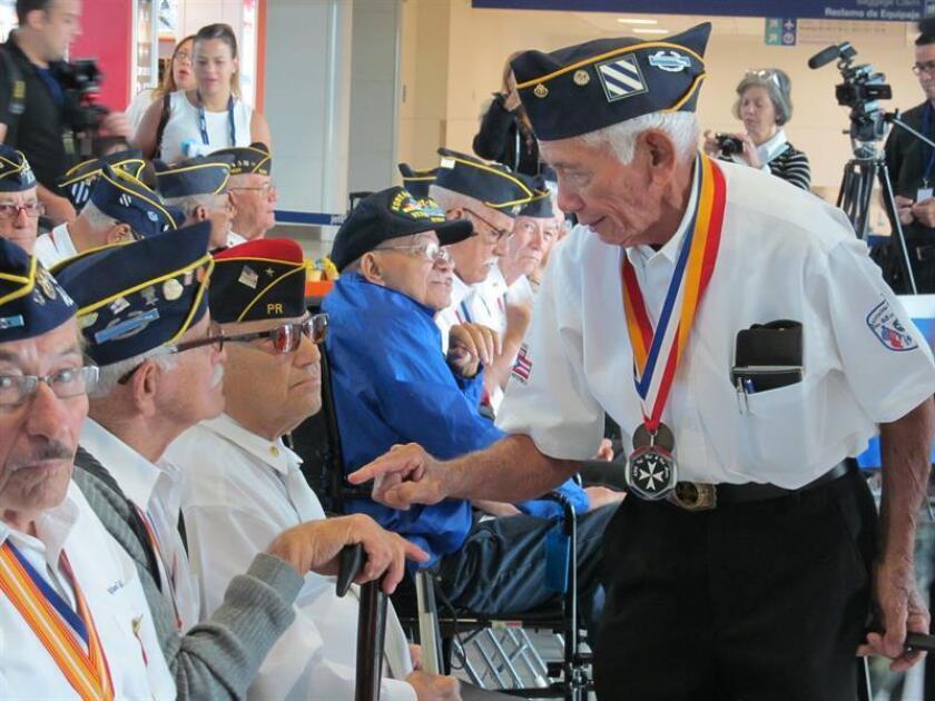 Vista de varios puertorriqueños veteranos. EFE/Archivo