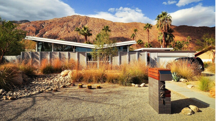 """Architect William Krisel was known for his eye-catching """"butterfly-roof"""" design."""