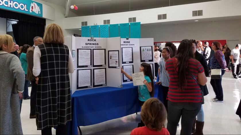 The Escondido Union School District held its annual Young Authors Celebration of Writing recently at Rincon Middle School.