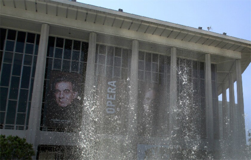 A view of the Dorothy Chandler Pavilion, the home of Los Angeles Opera.