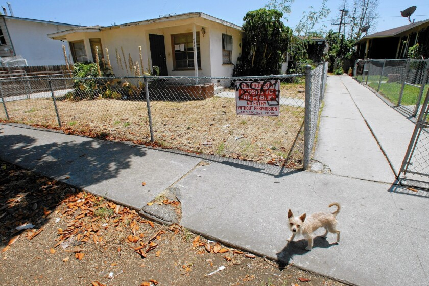 The Los Angeles City Council wants to take away bank ownership of eyesore vacant properties in the city.
