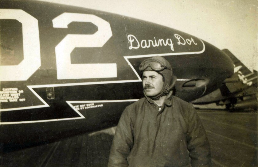 """Leonard Carpenter on the USS Oriskany during the Korean War. """"Daring Dot"""" refers to his wife, Dorothy, who died in October."""