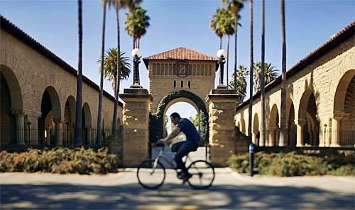 Stanford, home to stately old buildings, was a farm before 1885, when Leland Stanford and his wife, Jane, created Leland Stanford Junior University in honor of their recently deceased son. With ambitions to compete with the Ivy League, the Stanfords hired Frederick Law Olmsted to design the landscape. The first students, including Herbert Hoover, arrived in 1891.