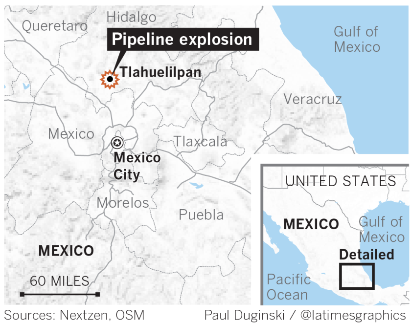 Pipeline explosion and fire