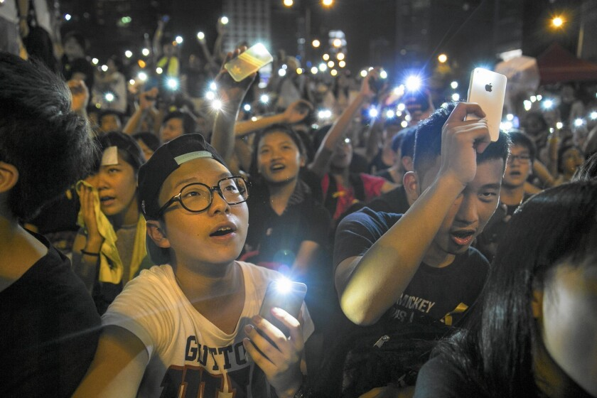 Thousands of pro-democracy supporters in Hong Kong last fall took to the streets to protest for 10 weeks.