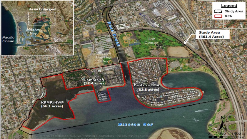 Study area for the ReWild Mission Bay Wetlands Restoration Feasibility Study, which can be viewed or downloaded at rewildmissionbay.org/resources/