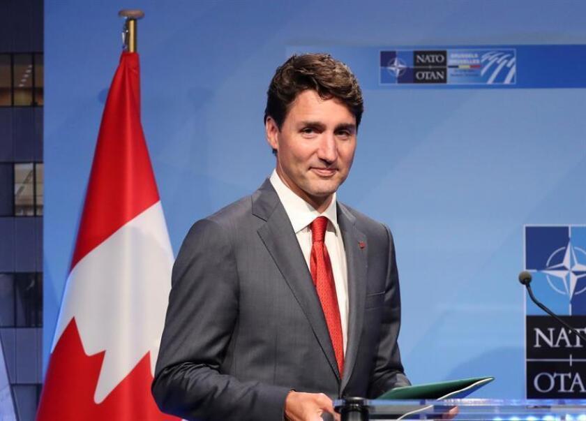 El primer ministro canadiense, Justin Trudeau, ofrece una rueda de prensa. EFE/Archivo