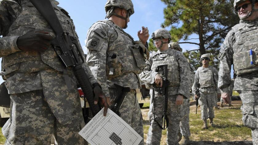 Soldiers training at Ft. Bragg, N.C.