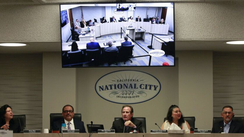 NATIONAL CITY, September 4, 2018 | One of the new television monitors that have been installed in th