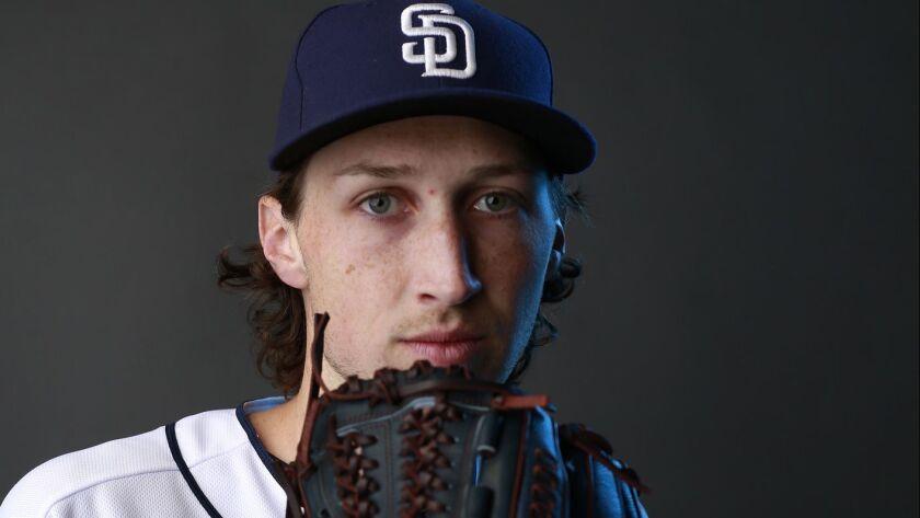 San Diego Padres pitcher Matt Strahm on Feb. 21, 2018.