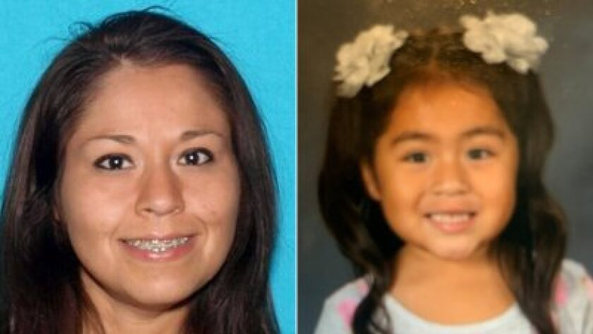 Christina Lujan, 39, and Josephine Lujan, 3, pictured in an Amber Alert issued by the California Highway Patrol.