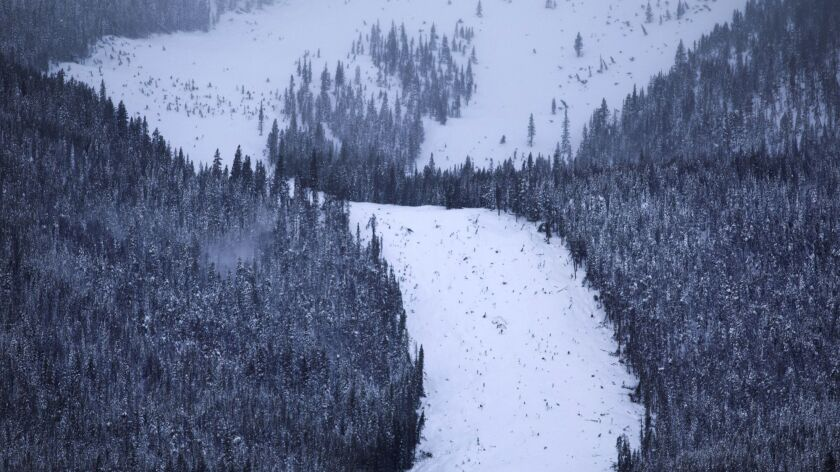 An avalanche on Mt. Victoria in Frisco, Colo., on Thursday.