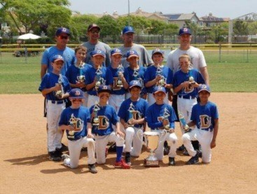The Del Mar National Little League AAA Bulls finished the regular season atop the National League division and then went 3-0 to win the National League tournament.  The Bulls capped it off by beating the American League tournament winners the AAA Blue Wahoos 10-8 in a very exciting Championship gam