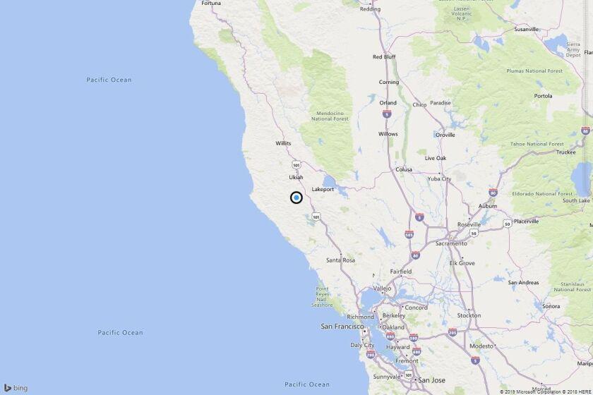Earthquake: 3.1 quake strikes near Hopland, Calif.