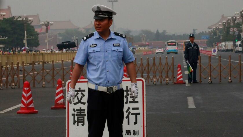 Security tightens around Tiananmen Square on the 30th anniversary of the 1989 Tiananmen Square protests, Beijing, China - 04 Jun 2019