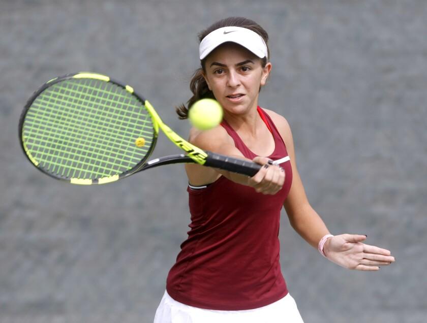 Annabelle Kevakian is a key returner this season for the La Cañada High girls' tennis team.