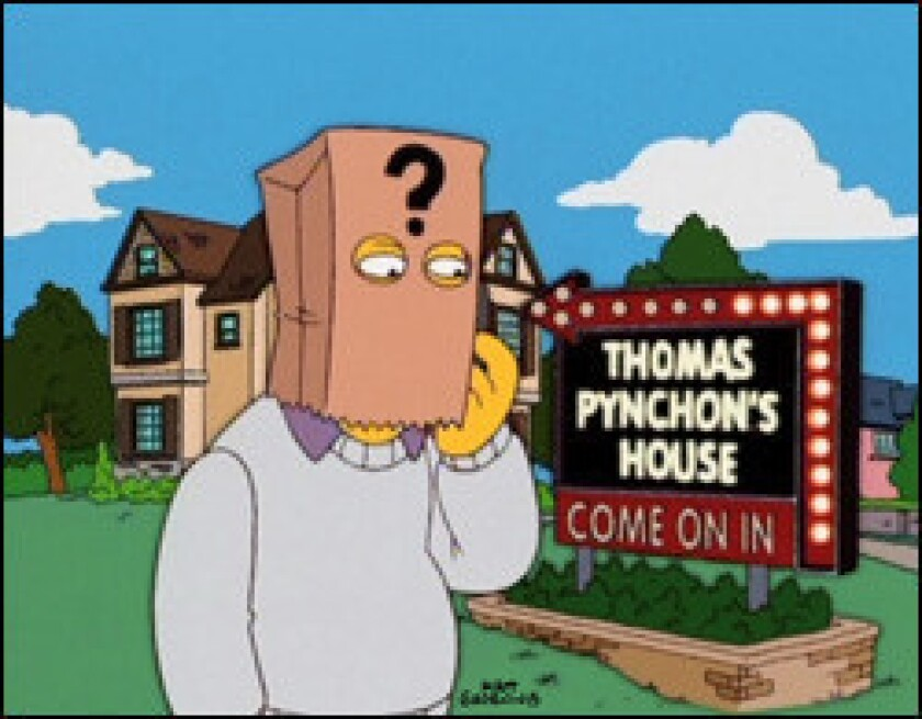 """The reclusive Thomas Pynchon, as portrayed on """"The Simpsons."""""""