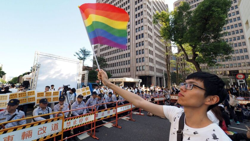 Same-sex marriage protests in Taiwan