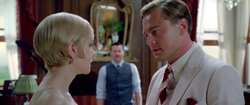 "Carey Mulligan as Daisy Buchanan, Joel Edgerton as Tom Buchanan and Leonardo DiCaprio as Jay Gatsby in ""The Great Gatsby,"" which won a Golden Reel award for music."