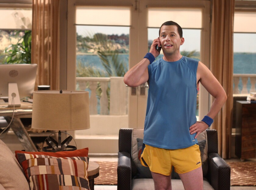 """Jon Cryer on the set of """"Two and a Half Men."""""""