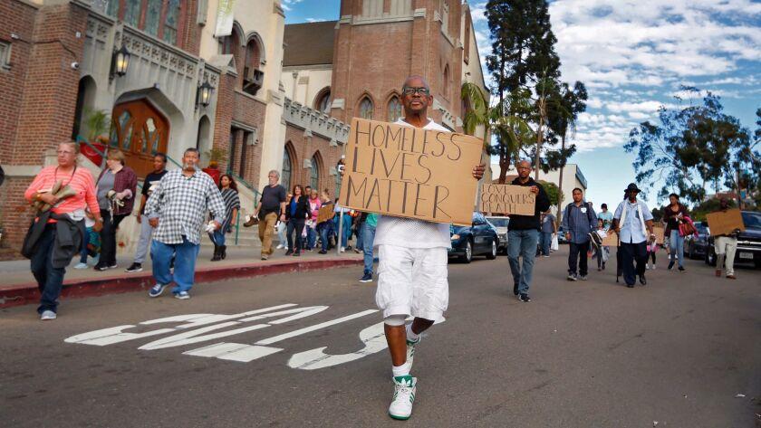 Homeless vigil