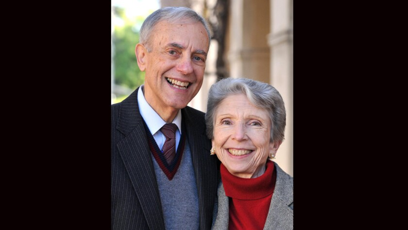 Ronald and Maxine Linde, major donors to Caltech.