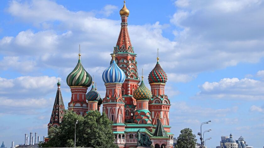 St. Basil's Cathedral in Moscow's Red Square is Russia's most recognizable landmark. It was built in