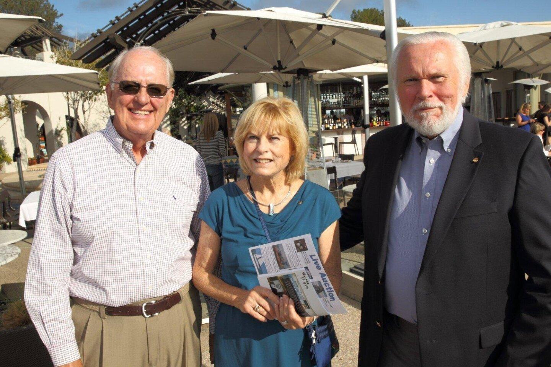 Karl Wagner, Suzy Wagner, Eric Nelte (DM Rotary President)