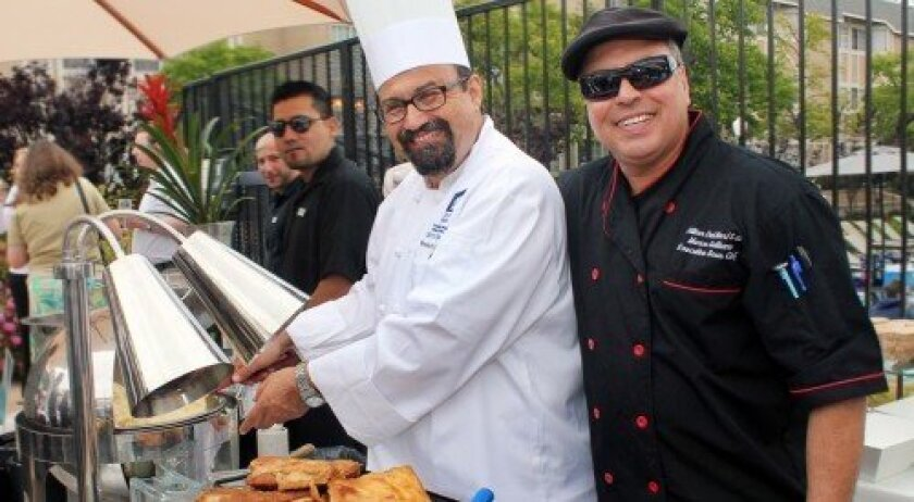 Francisco Castaneda and Marco Galliano of the Silks at Hilton Del Mar at the Meet the Chefs of Del Mar. Courtesy photo