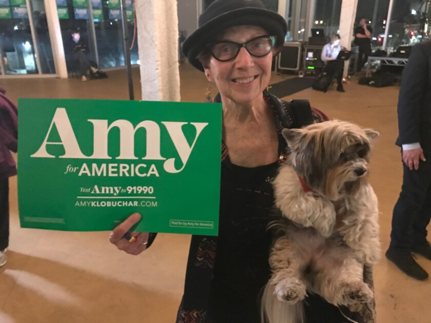 Babs Daitch, a Las Vegas tour guide, is impressed with Amy Klobuchar.