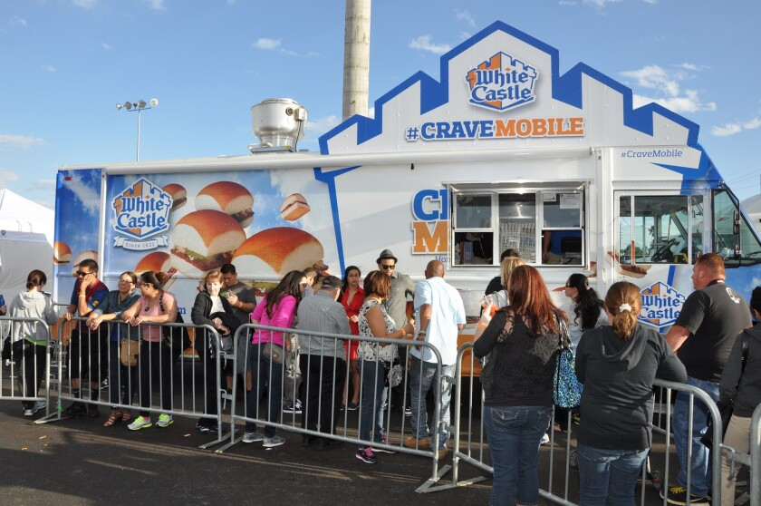 The White Castle Crave Mobile is one of 50 food trucks that will be at the Great American Foodie Fest.