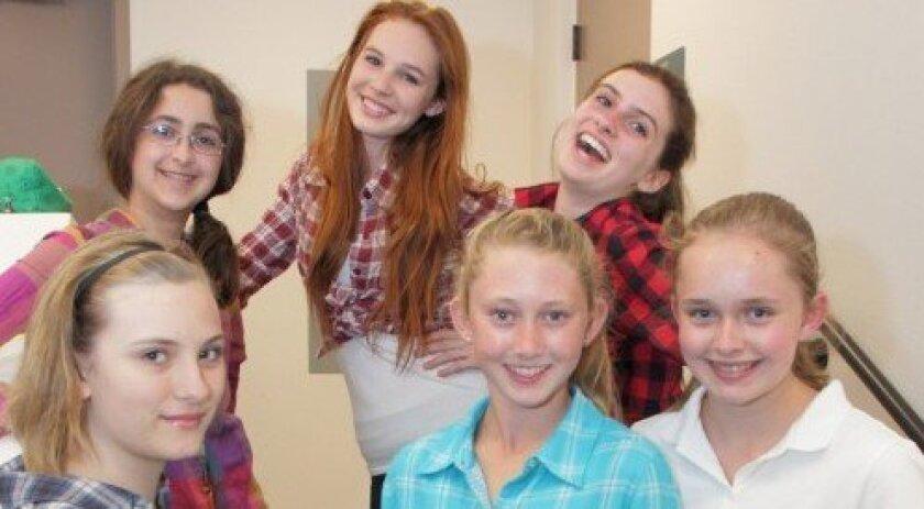 Front row: Claire Fishman, Lissa Schroeder, Niki Buss. Back row: Lily Klinek, Nicolette Bahr, Madison Klair