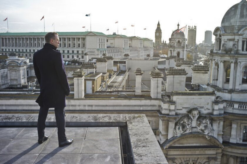 "Daniel Craig stars in the latest James Bond film ""Skyfall."""