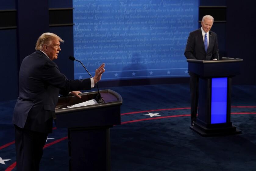 President Trump and Joe Biden debate Oct. 22.